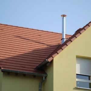 Sortie de toiture double paroi
