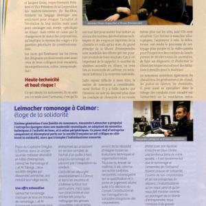 Article paru dans la Gazette des métiers édité par la Chambre des Métiers et de l'Artisanat d'Alsace