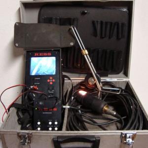 Caméra vidéo à tête rotative 360° avec enregistreur couleur et stockage des images sur carte SD